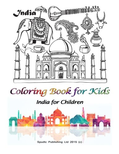 9781511975315: Coloring Book For Kids: India for Children