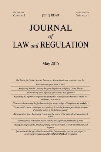 9781511986953: Journal of Law and Regulation / Revista de Direito Setorial e Regulatório: Vol. 1, Issue 1 (Volume 1) (Portuguese Edition)