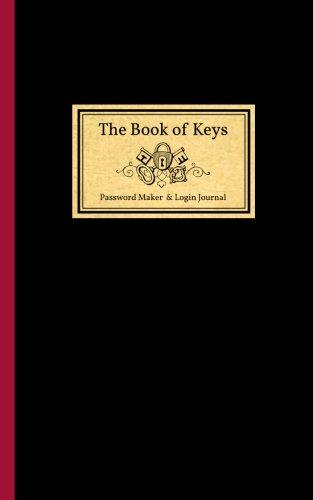 9781512032000: The Book of Keys - Password Maker & Login Keeper: Talking Days (Organizer, Journal, Notebook)