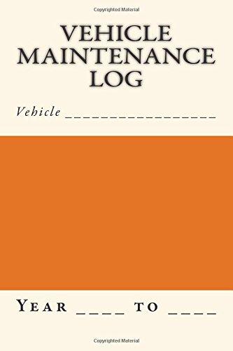 9781512040920: Vehicle Maintenance Log: Orange and Cream Cover (S M Car Journals)