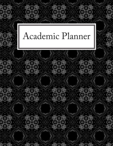 9781512089578: Academic Planner: Start Your Road To Academic Success! (Black Pattern)