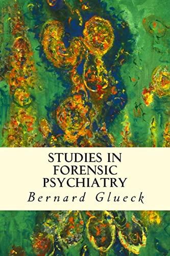 9781512109689: Studies in Forensic Psychiatry