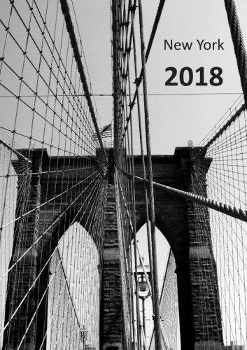 9781512130690: Kalender 2018 - New York Brooklyn Bridge: DIN A5, 1 Woche auf 2 Seiten, Platz für Adressen und Notizen (German Edition)