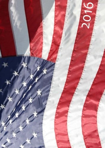 9781512136418: Kalender 2016 - A5 - Amerika Flagge: DIN A5, 1 Woche auf 2 Seiten, Platz für Adressen und Notizen (German Edition)