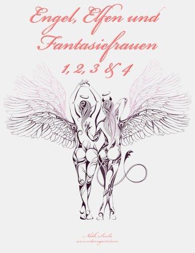 9781512250428: Engel, Elfen und Fantasiefrauen Malbuch 1, 2, 3 & 4: 1-4
