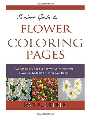 9781512289329: Seniors Guide to Flower Coloring Pages