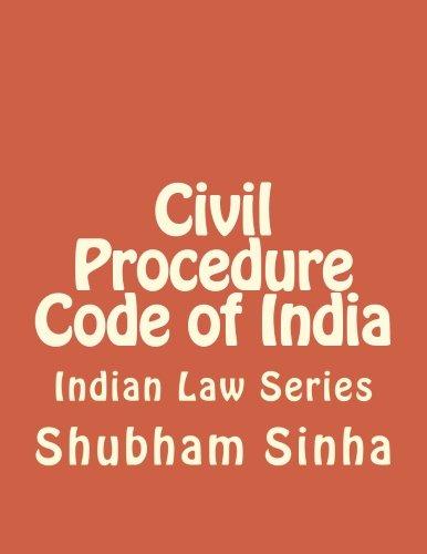 9781512298116: Civil Procedure Code of India: Indian Law Series
