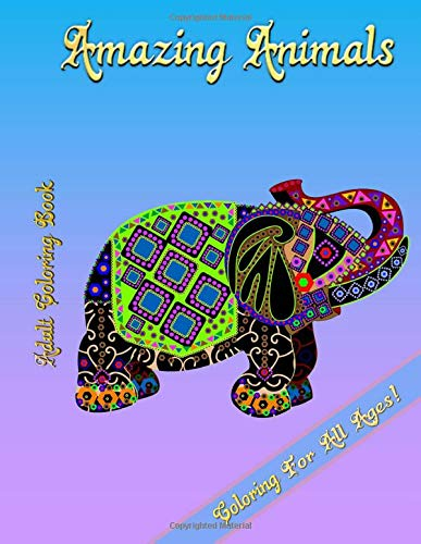 9781512353921: Adult Coloring Book - Amazing Animals