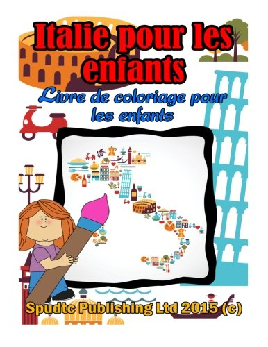 9781512355444: Italie pour les enfants: Livre de coloriage pour les enfants (Esperanto Edition)