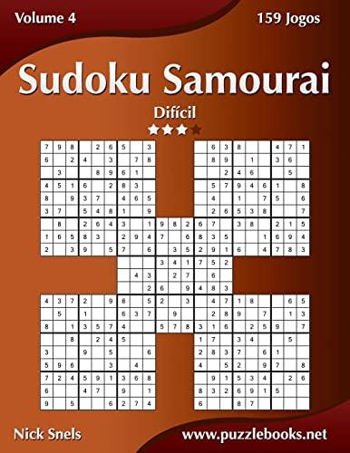 9781514123935: Sudoku Samurai - Difícil - Volume 4 - 159 Jogos (Portuguese Edition)