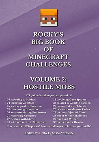 9781514167373: Rocky's Big Book of Minecraft Challenges: Volume 2 - Hostile Mobs