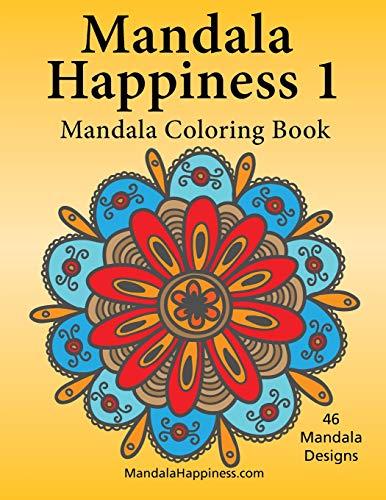 9781514179123: Mandala Happiness 1, Mandala Coloring Book (Volume 1)