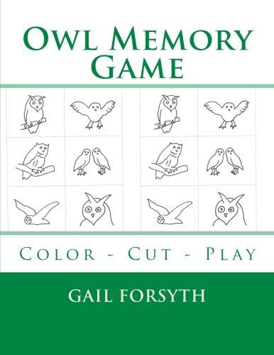 9781514180150: Owl Memory Game: Color - Cut - Play