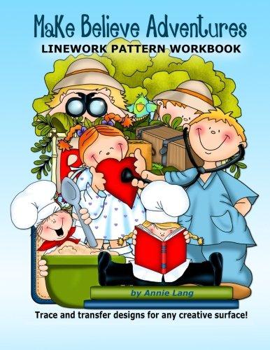 9781514183854: Make Believe Adventures: Linework Pattern Workbook