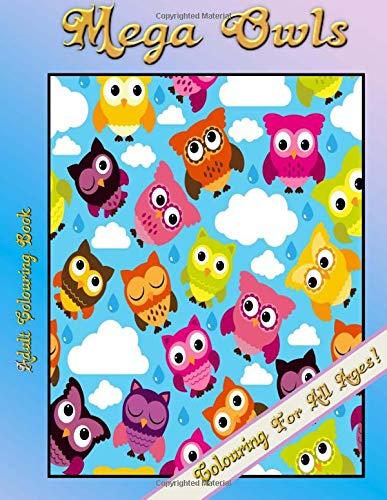9781514234396: Adult Colouring Book - Mega Owls
