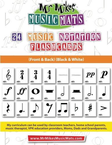 9781514241561: 24 Music Notation Flashcards (Black&White): MrMikesMusicMats (Volume 3)