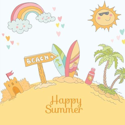 Happy Summer: Summer Break Journal & Scrapbook for Kids: Scrap Happy Memories