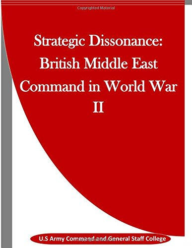 9781514284360: Strategic Dissonance: British Middle East Command in World War II