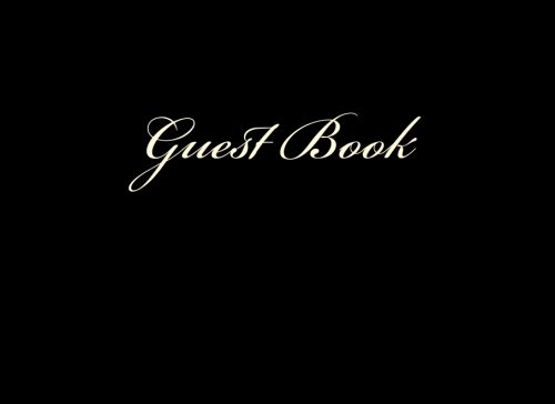 9781514292501: Guest Book (Blank Pages Edition): Classic Black Cover Guest Book Option (Volume 1)