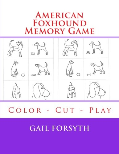 9781514293119: American Foxhound Memory Game: Color - Cut - Play
