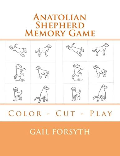 9781514293416: Anatolian Shepherd Memory Game: Color - Cut - Play