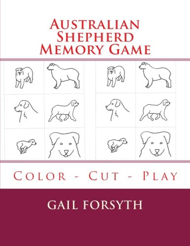 9781514293546: Australian Shepherd Memory Game: Color - Cut - Play