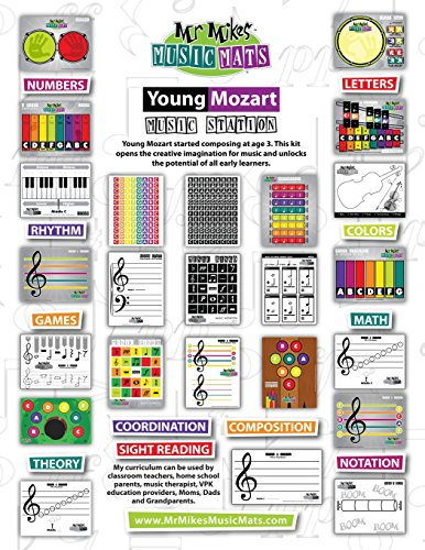 9781514308714: Young Mozart Music Station: MrMikesMusicMats (Volume 1)