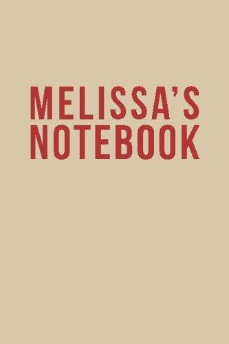9781514319635: Melissa's Notebook