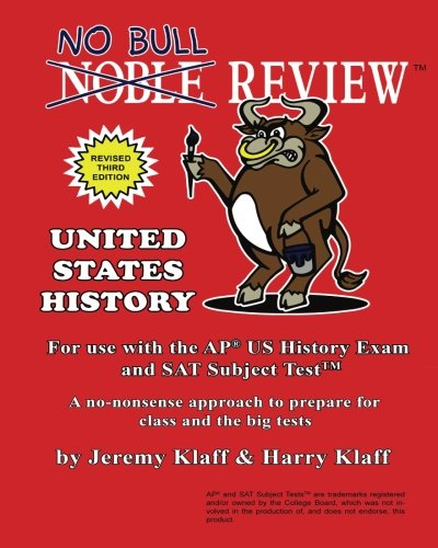 9781514337509: No Bull Review - For Use with the AP US History Exam and SAT Subject Test