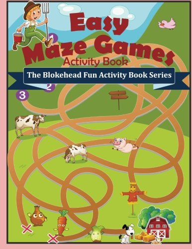 9781514360293: Easy Maze Games Activity Book: ( The Blokehead Fun Activity Book Series)