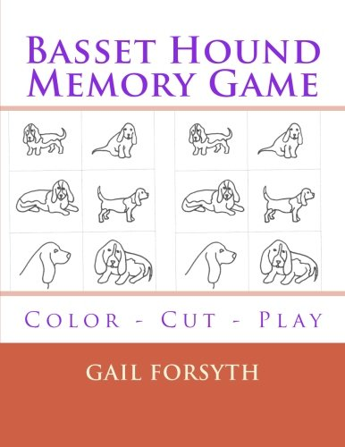 9781514386071: Basset Hound Memory Game: Color - Cut - Play