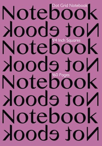 9781514389782: Dot Grid Notebook 1/4 Inch Squares 160 pages: Notebook Not Ebook with pink cover, 7