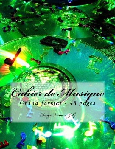 9781514391044: Cahier de Musique Grand format 48 pages: Design Original Type 1 (French Edition)