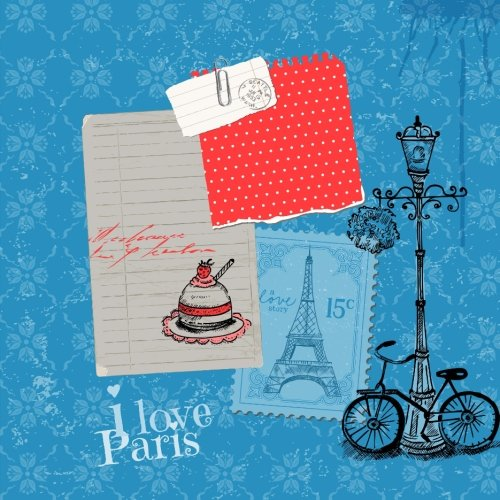 9781514603987: Paris: I Love Paris: Beautiful Color Interior Journal and Scrapbook Memory Keeper with Photo Pages