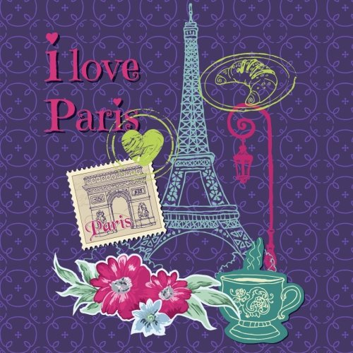 Paris: Travel Scrapbook and Memory Journal with Photo Pages-Full Color: Memories, Scrap Happy