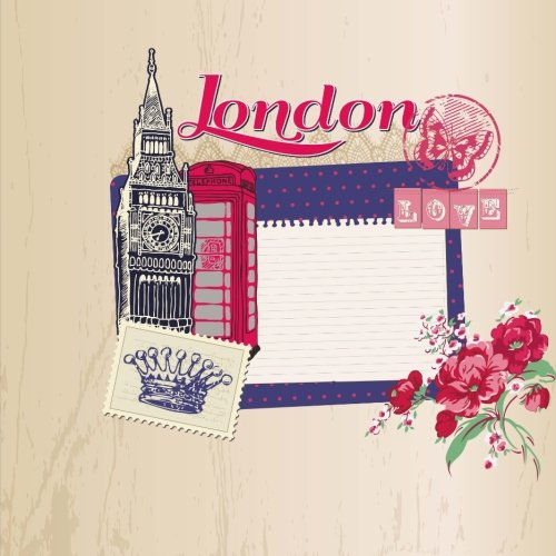 9781514616253: Love London: Travel Journal Scrapbook: Full Color with Photo Pages and Color Artwork