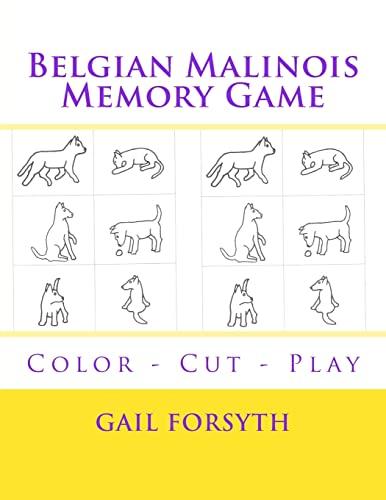 9781514629369: Belgian Malinois Memory Game: Color - Cut - Play