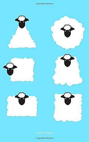 9781514651902: Sheep Notebook: College Ruled Writer's Notebook for School, the Office, or Home! (5 x 8 inches, 78 pages)