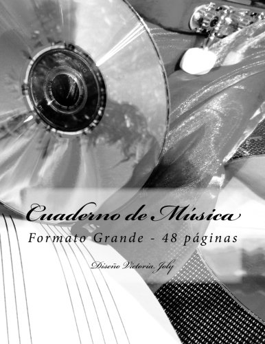 9781514669679: Cuaderno de Musica Formato Grande - 48 p.: Diseno Original Tipo 10