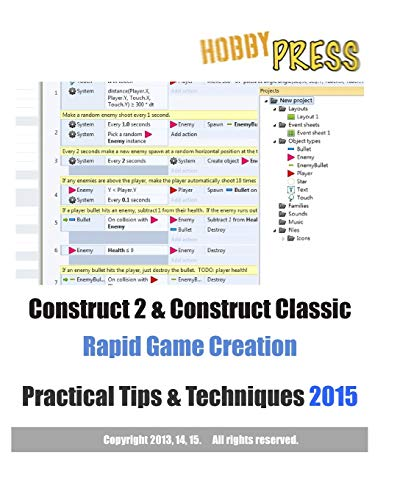 9781514671245: Construct 2 & Construct Classic Rapid Game Creation Practical Tips & Techniques