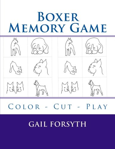 9781514706503: Boxer Memory Game: Color - Cut - Play