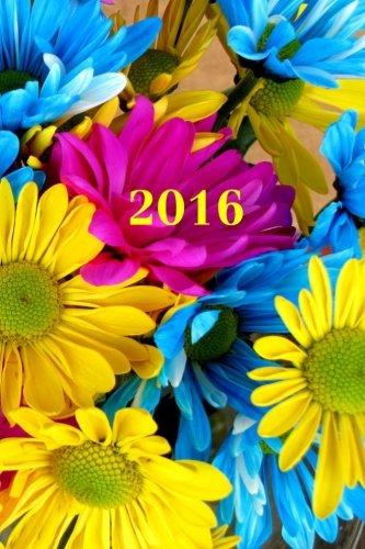 9781514762509: 2016: Kalender/Terminplaner: 1 Woche auf 2 Seiten, Format ca. A5, Cover Blumen: Volume 4