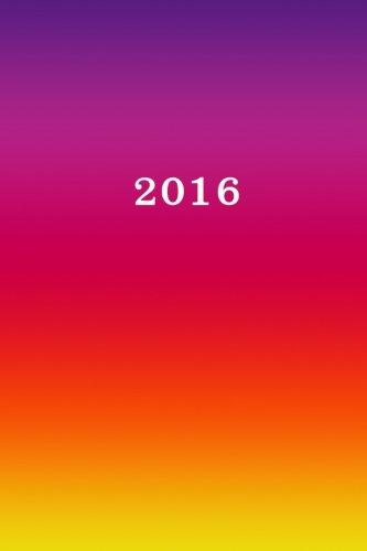 9781514764596: 2016: Kalender/Terminplaner: 1 Woche auf 2 Seiten, Format ca. A5, Cover bunt (Volume 9) (German Edition)