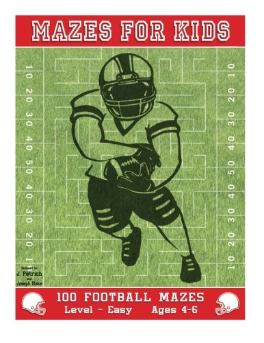9781514805305: Mazes for Kids: 100 Football Mazes: Level Easy