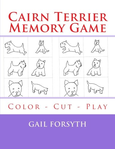 9781514807934: Cairn Terrier Memory Game: Color - Cut - Play