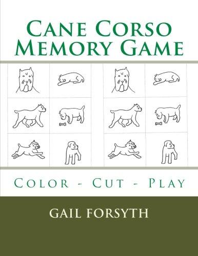 9781514808016: Cane Corso Memory Game: Color - Cut - Play