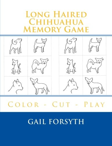 9781514808474: Long Haired Chihuahua Memory Game: Color - Cut - Play