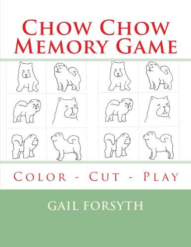 9781514808849: Chow Chow Memory Game: Color - Cut - Play
