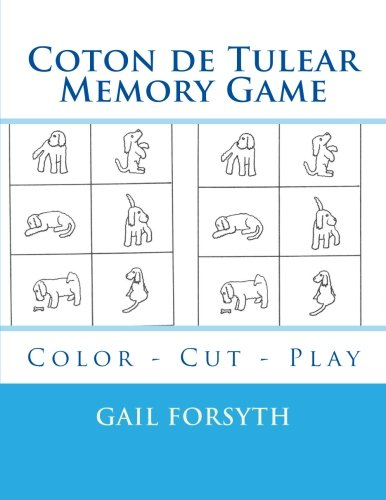 9781514809198: Coton de Tulear Memory Game: Color - Cut - Play