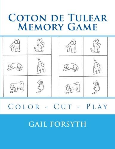 9781514809198: Coton de Tulear Memory Game: Color - Cut - Play